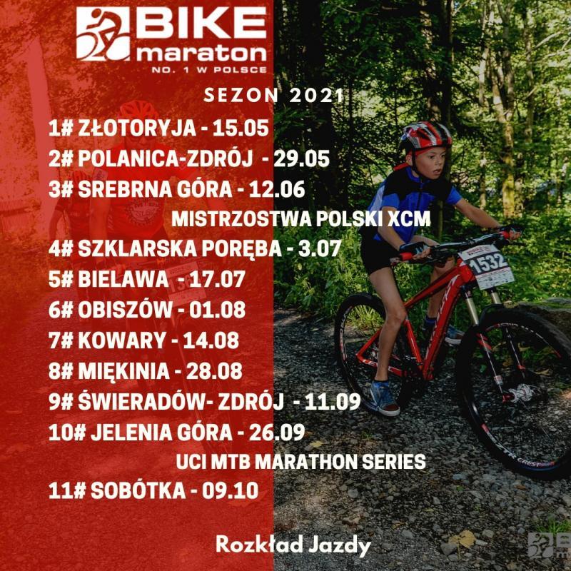 Ruszają zapisy na Bike Maraton wZłotoryi. Zapisy na Uphill Race Śnieżka 12 maja